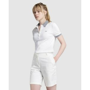 LACOSTE white preppy bermuda shorts